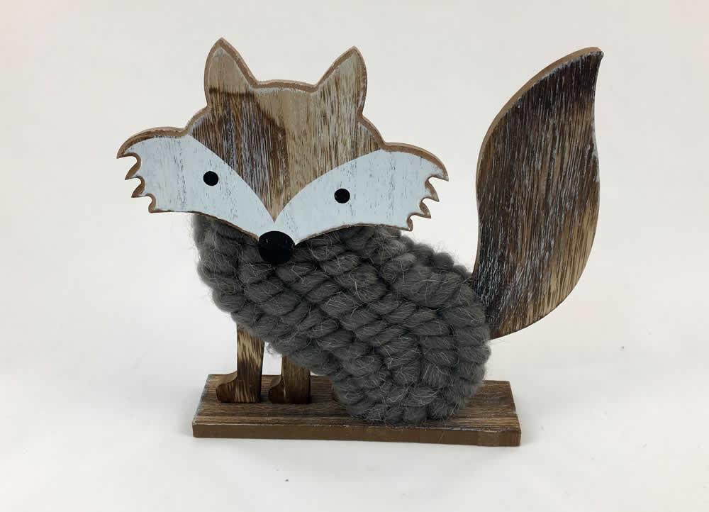 Αλεπού ξύλινη διακοσμητική