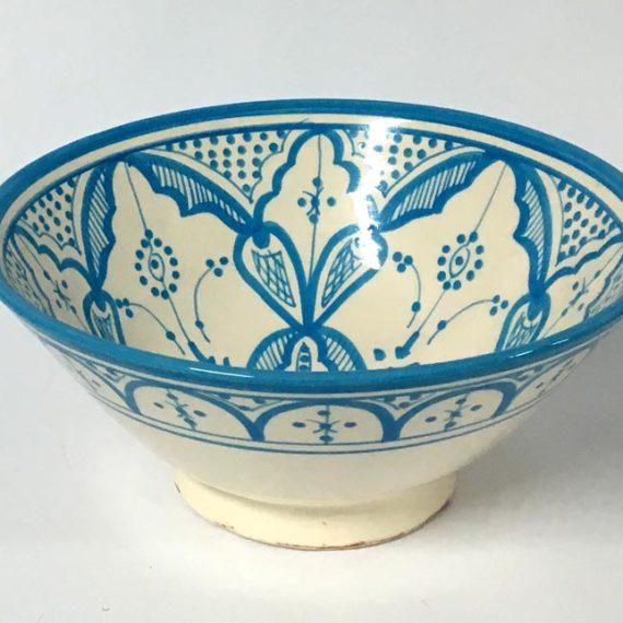 Μπωλ κεραμικό γαλάζιο - λευκό