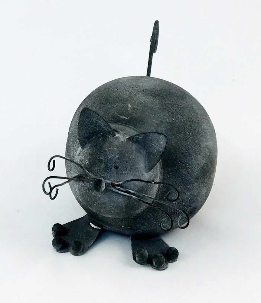 Γάτα μεταλλική διακοσμητική