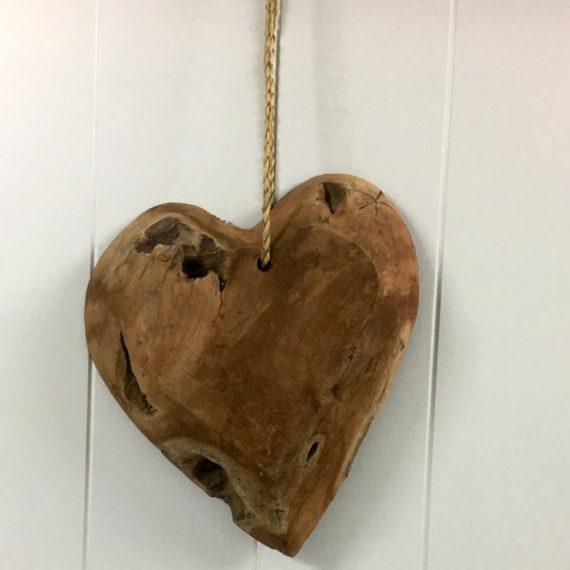 Καρδιά ξύλινη κρεμαστή