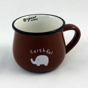 Κούπα κεραμική καφέ