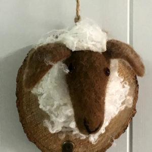 Κρεμάστρα ξύλινη - πρόβατο