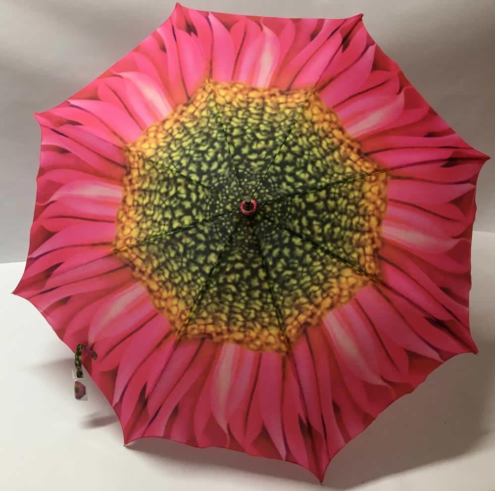 Ομπρέλα με σχέδιο ροζ μαργαρίτα