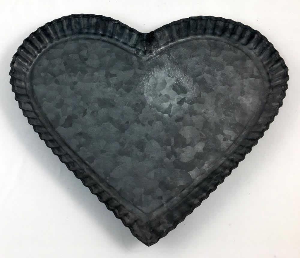 Πιάτο μεταλλικό σε σχήμα καρδιάς