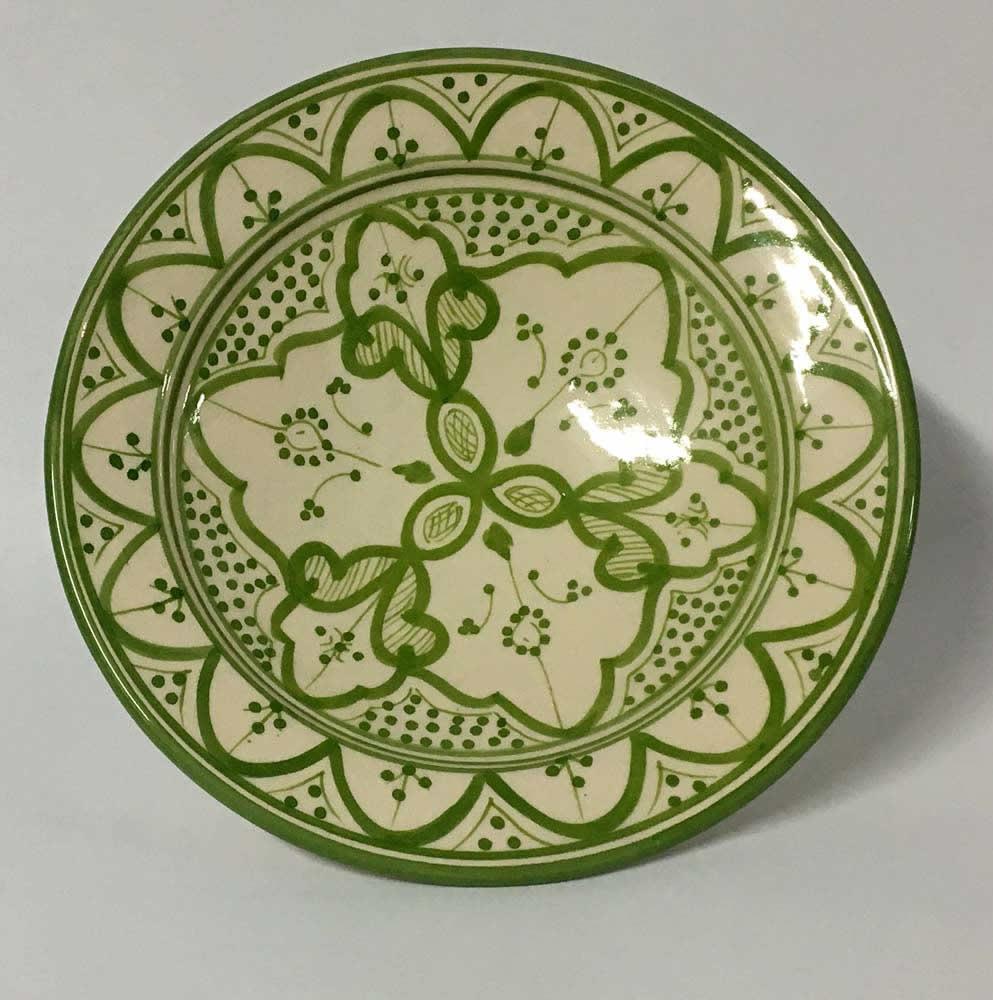 Πιάτο κεραμικό πράσινο ανοιχτό - λευκό