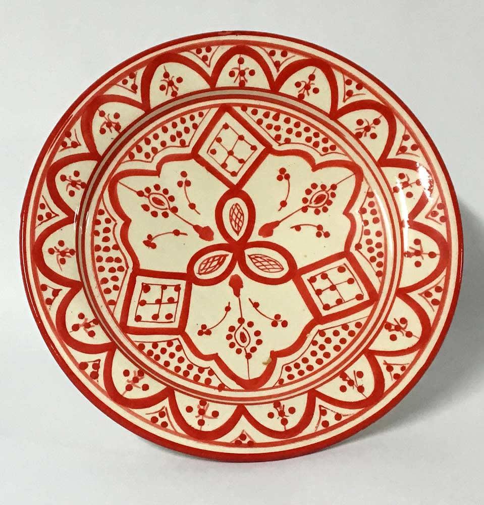 Πιάτο κεραμικό κόκκινο - λευκό