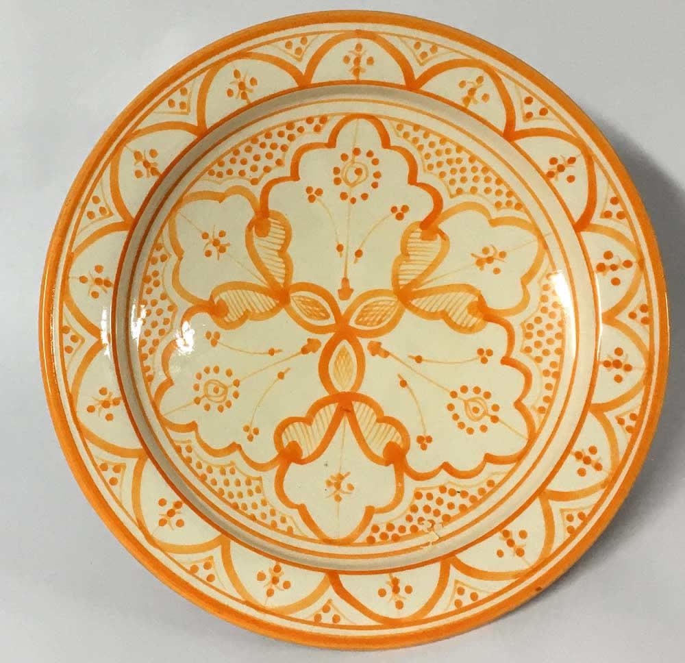 Πιάτο κεραμικό πορτοκαλί - λευκό