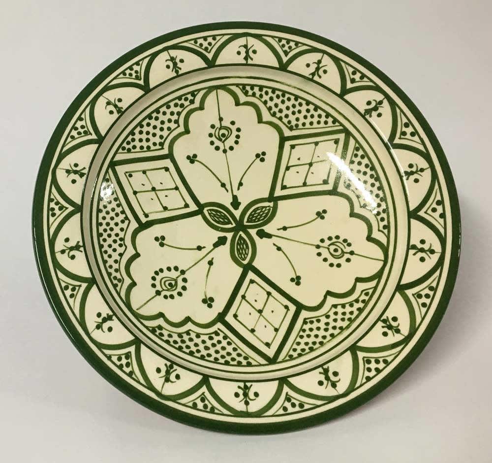 Πιάτο κεραμικό πράσινο - λευκό