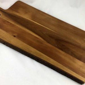 Επιφάνεια κοπής ξύλινη με χερούλι (medium)