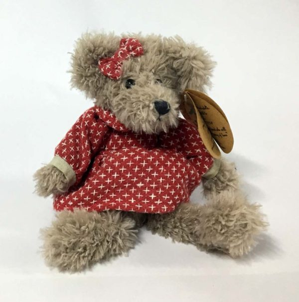 Λούτρινη αρκουδίτσα με φόρεμα