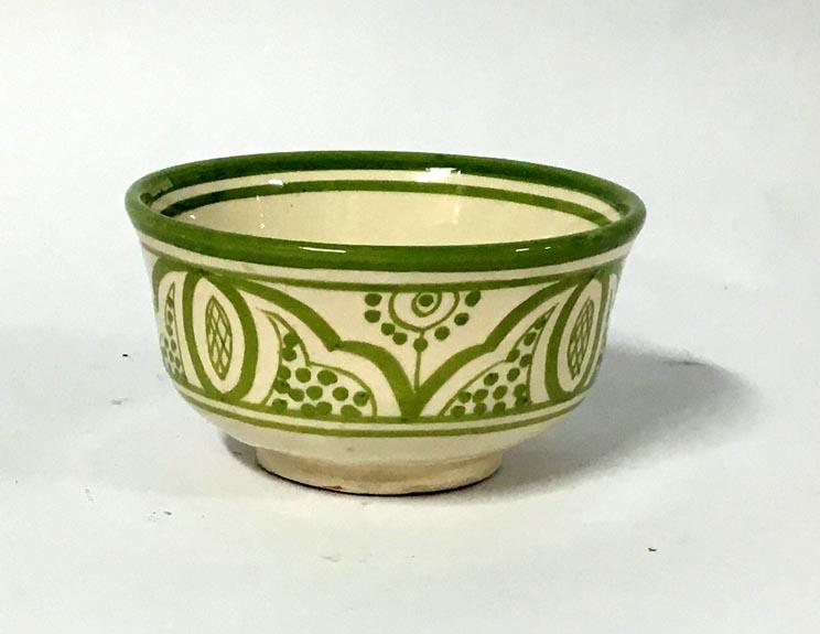 Μπωλ κεραμικό πράσινο -λευκό (13cm)