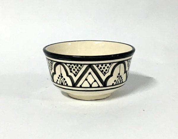 Μπωλ κεραμικό μαύρο -λευκό (13cm)