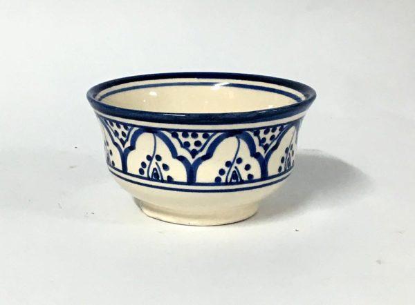 Μπωλ κεραμικό μπλε -λευκό (13cm)