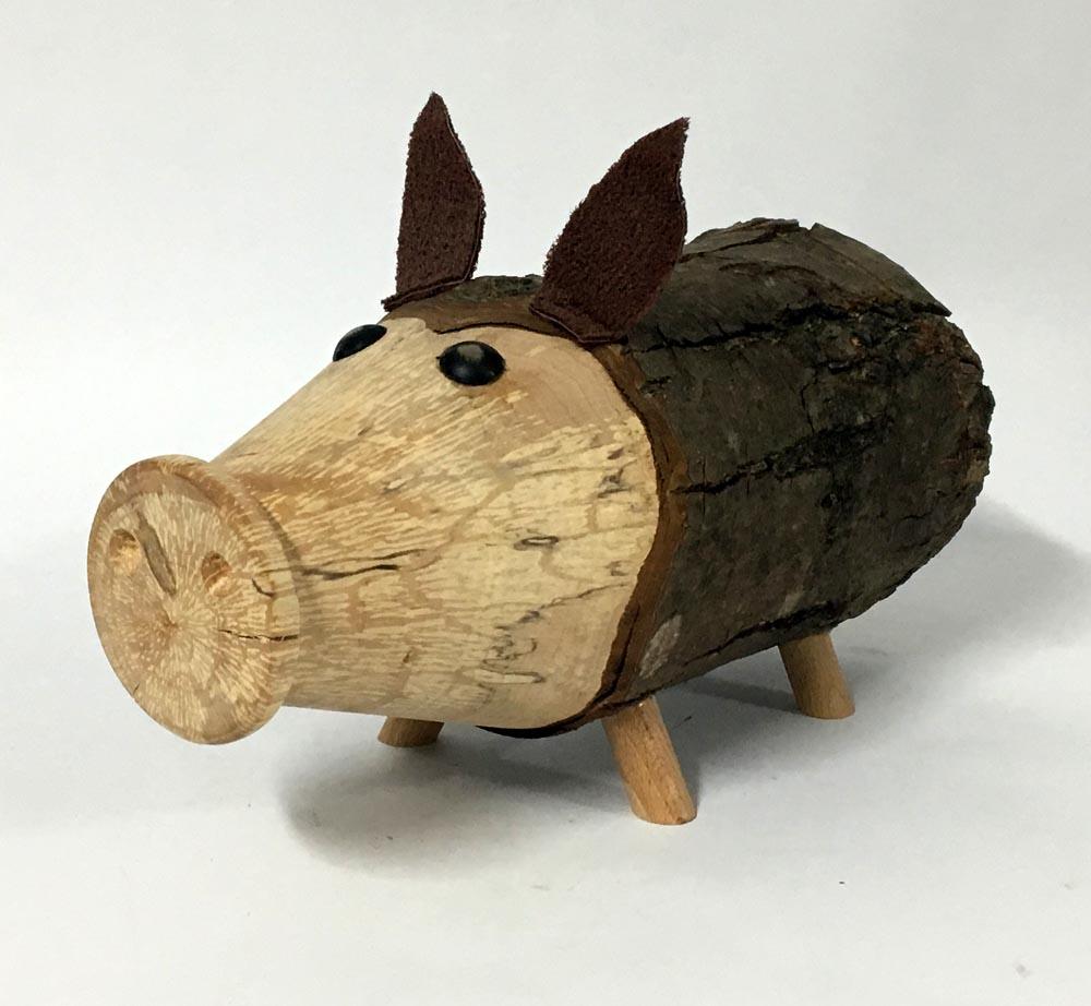 Γουρούνι ξύλινο -κουμπαράς