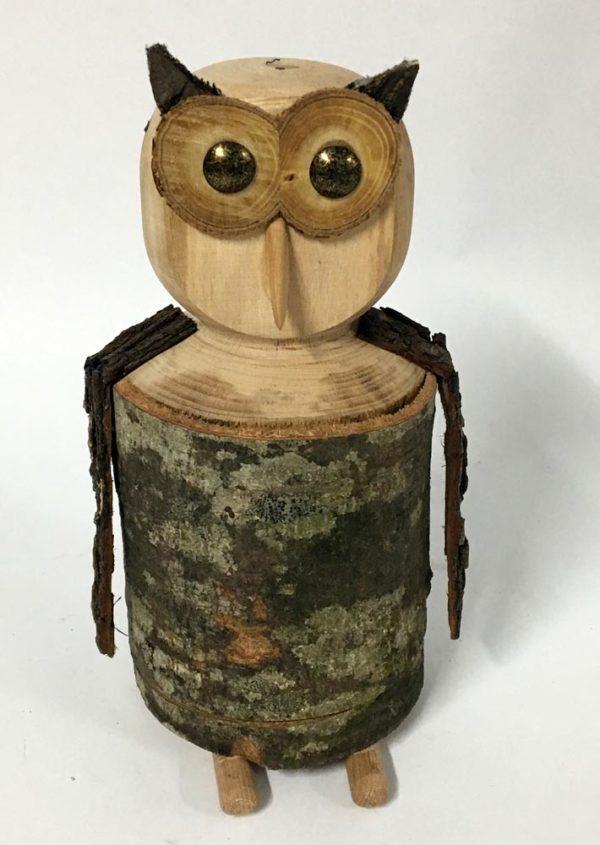 Κουκουβάγια ξύλινη -κουμπαράς